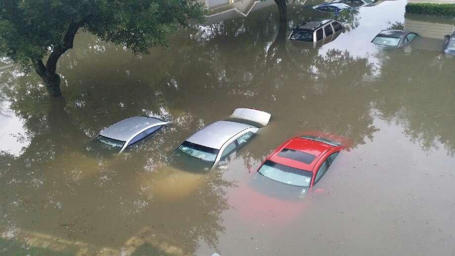Flooding near Meyer Park. May 26, 2015 Photo: Julia Andrews