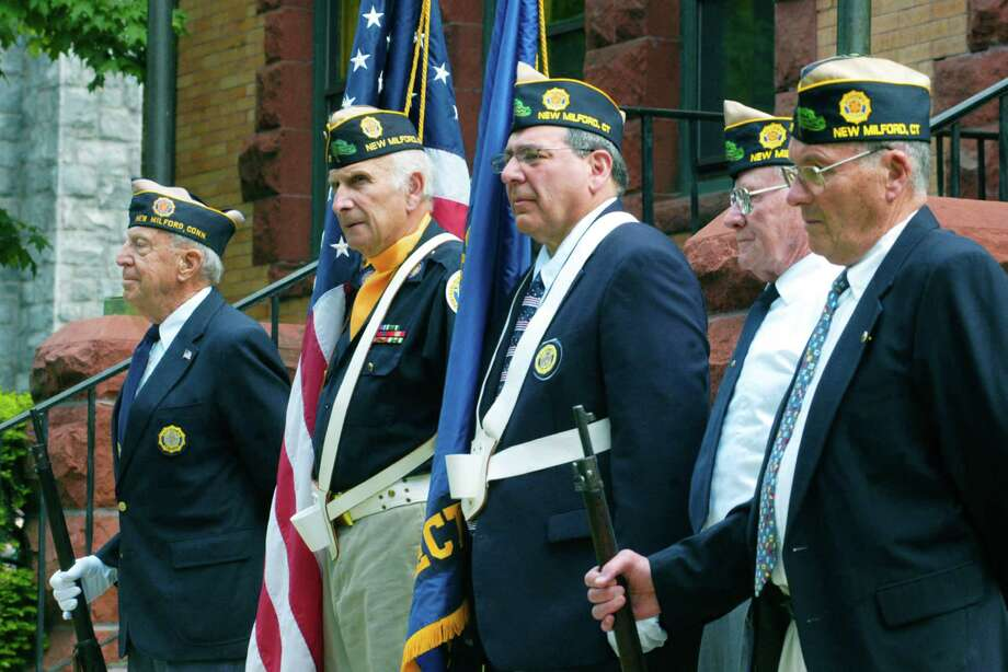 The Memorial Day ceremony at New Milford Public Library, May 25, 2015 Photo: Norm Cummings / The News-Times