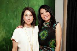 Jen Zanoli and Betty Lin at the grand opening for Betty Lin's new Sacramento Street space on May 20, 2015.
