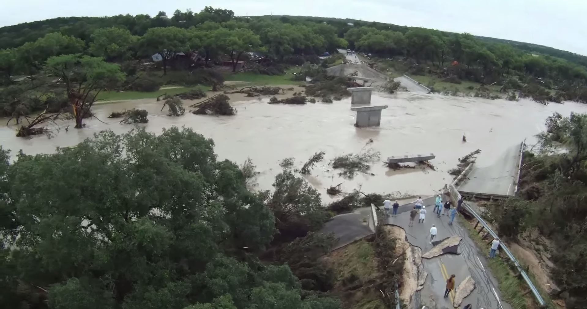 Stunning Drone Videos Show Central Texas Flood Storm