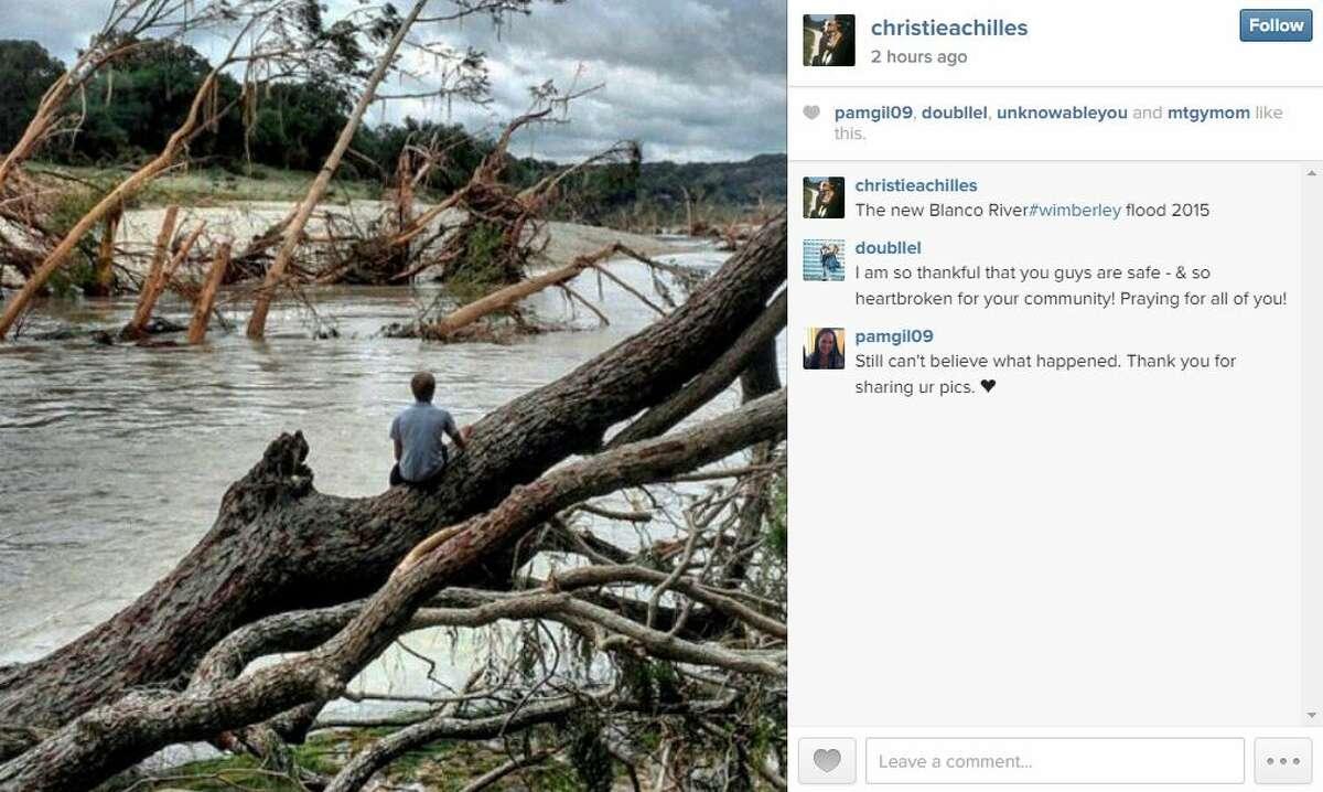 """The new Blanco River #wimberley flood 2015"" - christieachilles"