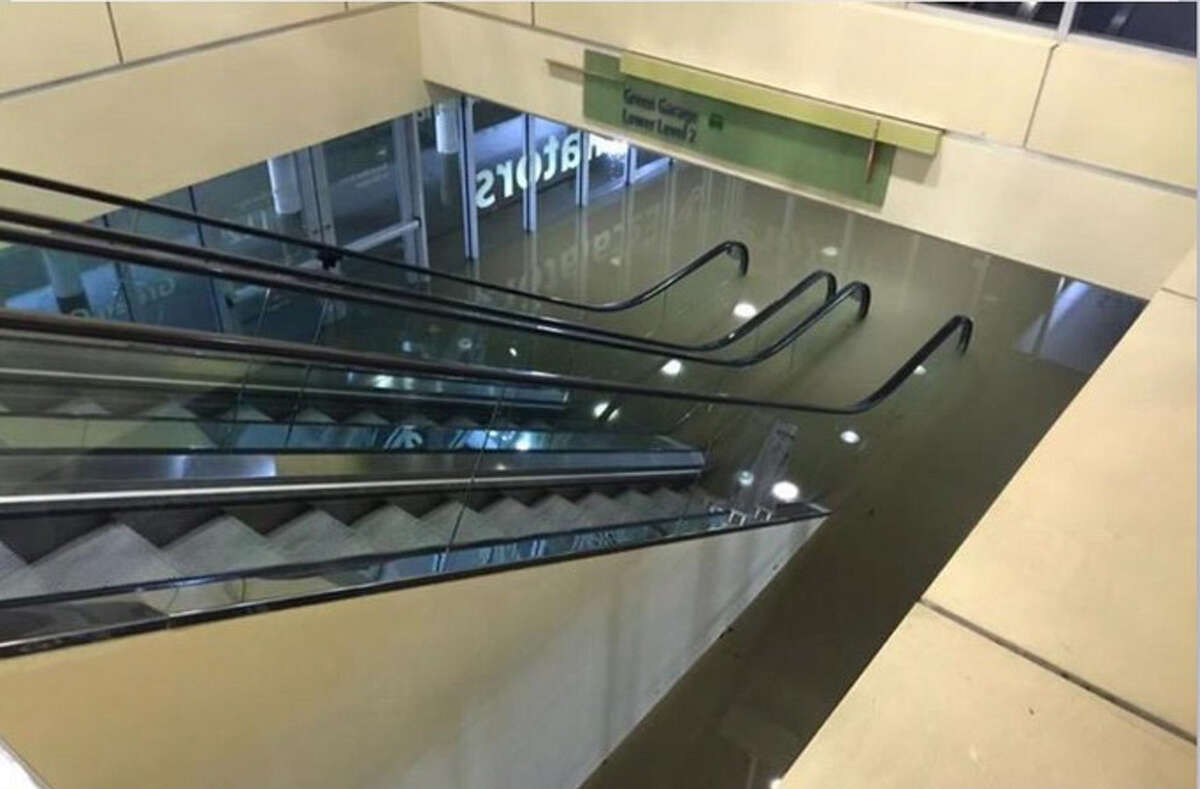 Houston Chronicle reader Richard Reyna posted a handful of soggy photos and a video from The Galleria onto his Twitter account on Tuesday morning showing standing water in the lower level of a parking garage.