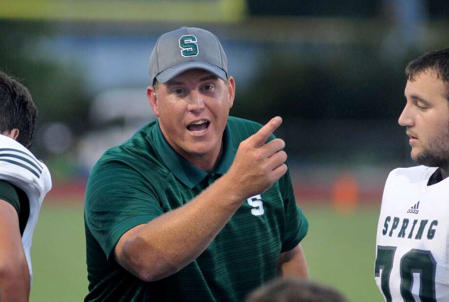 Spring head football coach Sam Parker feels last season's run to the regional finals was just the tip of the iceberg for how far the Lions can go. Photo: Jerry Baker, Freelance