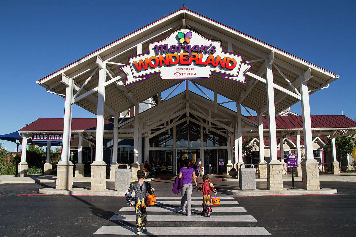 Morgan's Wonderland plans to build a $9.9 million water park addition that will open in 2017. Here, children enter the park for a Halloween celebration.