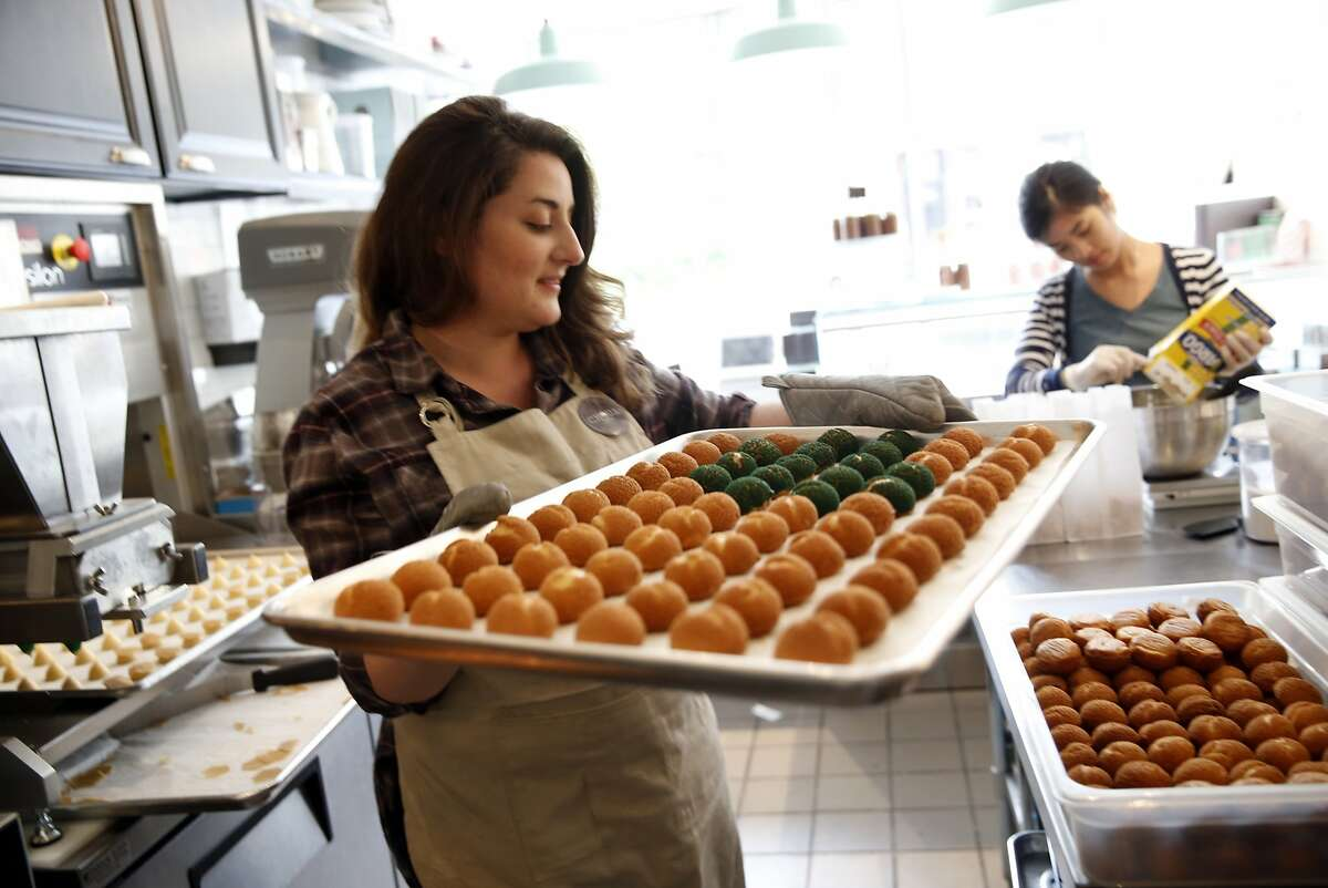 Laura Athuil, the owner of Choux, a bakery in the Lower Haight, uses the app Complete to keep track of her to-dos as a business owner. Photographed at Choux in San Francisco, Calif., on Tuesday, May 26, 2015.
