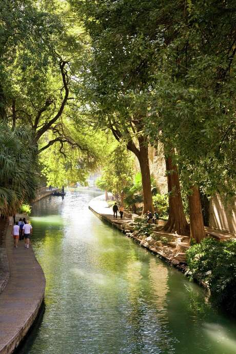 The non-touristy section of the River Walk.