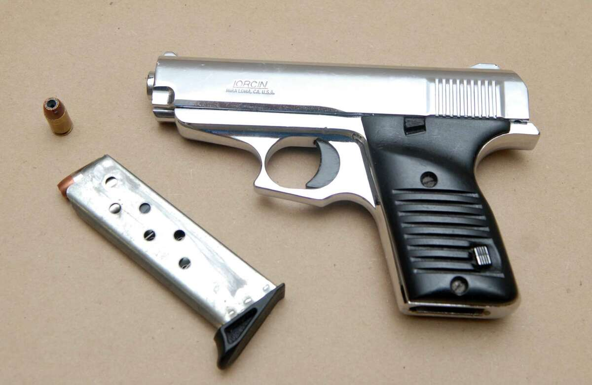 Handgun found in the possessionof Simeon Tulloch, according to police. (Albany police photo)