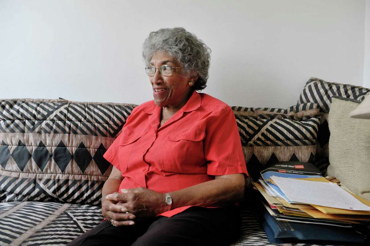 Barbara Noisette-Jackson talks about her life during an interview at her home on Tuesday, May 26, 2015, in Albany, N.Y. (Paul Buckowski / Times Union)