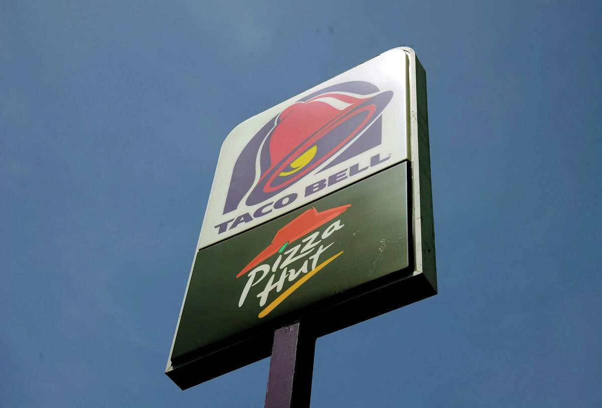File photo of Pizza Hut And Taco Bell signage.