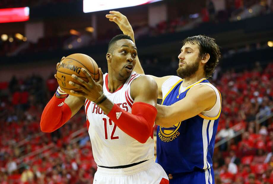 Houston's Dwight Howard said he lost his cool after tangling with the Warriors' Andrew Bogut in Game 4 on Monday. Photo: Ronald Martinez, Getty Images