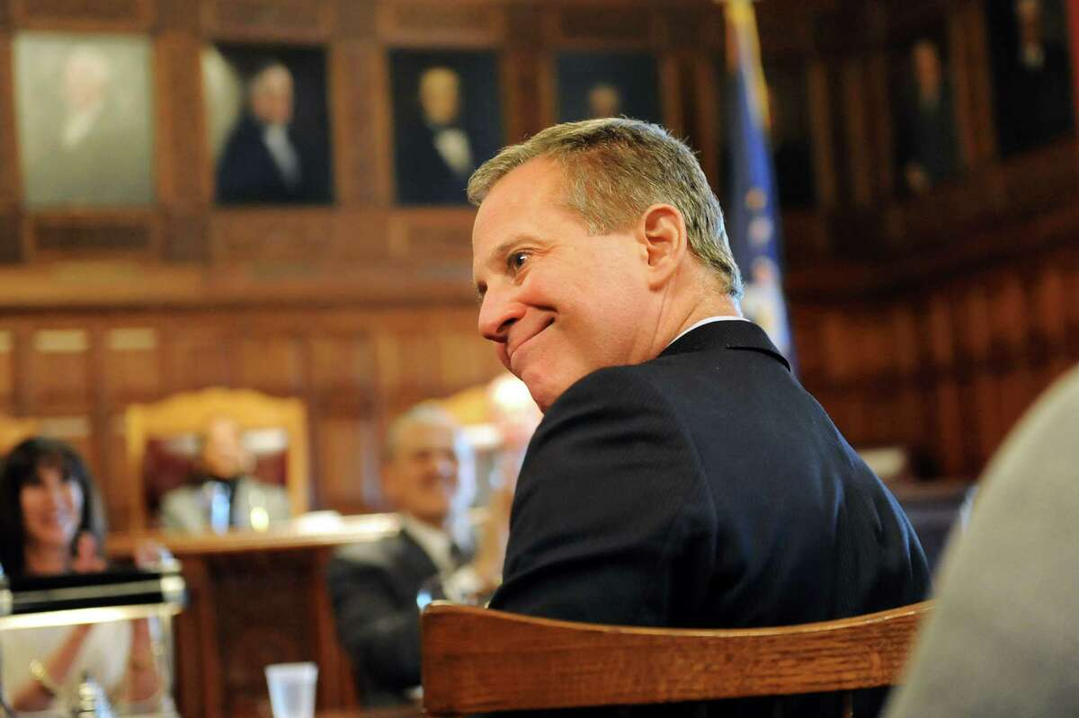 New York Attorney General Eric Schneiderman attends the State of the Judiciary address on Tuesday, Feb. 17, 2015, at the Court of Appeals in Albany, N.Y. (Cindy Schultz / Times Union archive)