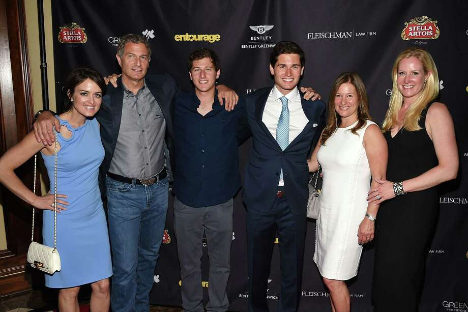 (L-R) GIFF Co-Founder Wendy Stapleton Reyes, Keith Fleischman, Alex Fleischman, Jake Fleischman, Liz Fleischman and GIFF Co-Founder Colleen deVeer attend the Greenwich Film Festival Special Screening of Entourage reception on May 26, 2015 in Greenwich, Connecticut. Photo: Andrew H. Walker, WireImage / Getty Images