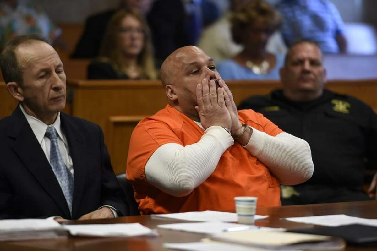John Wakefield is sentenced to life in prison on May 27, 2015, in Schenectady County Court. (Skip Dickstein/Times Union)