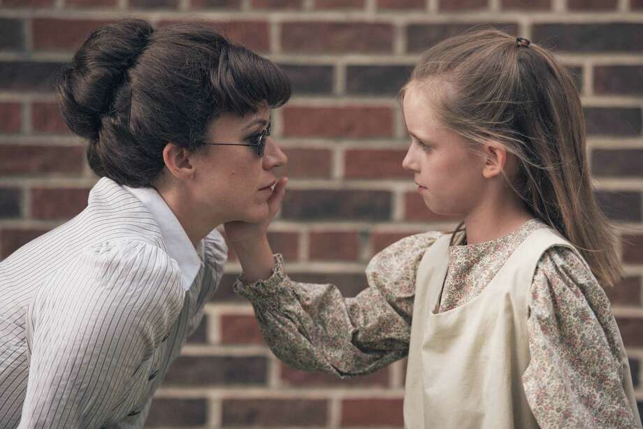 "Christy Watkins, left, and McKay Lawless star in ""The Miracle Worker,"" at A.D. Players. Photo: Courtesy A.D. Players"