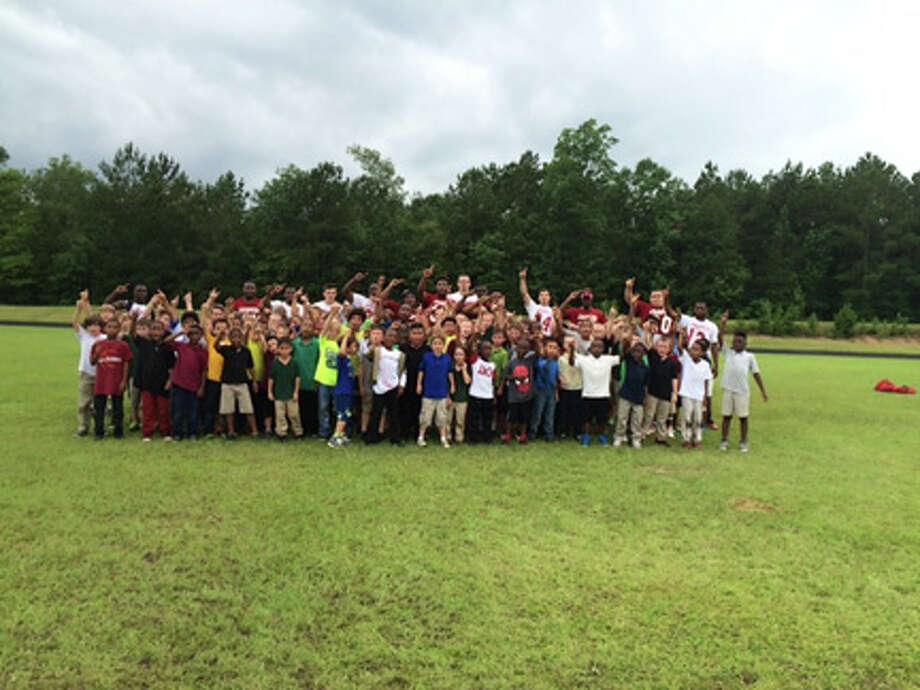 Jasper High Schools football camp participants courtesy photo