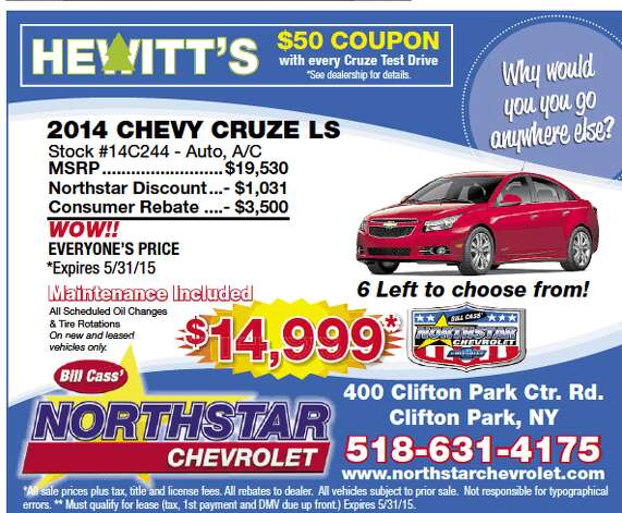 Perfect Northstar Chevrolet Ad