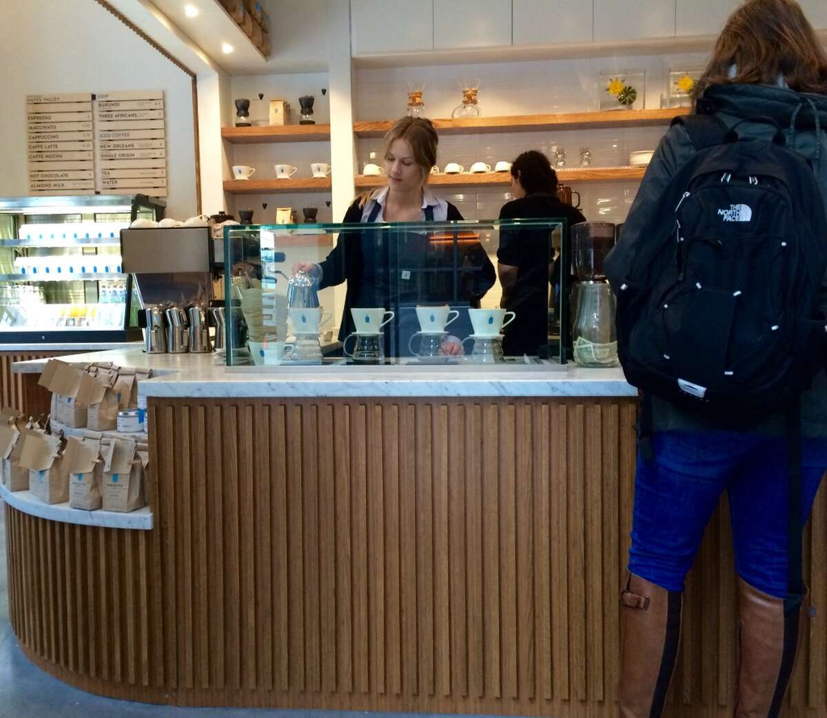 Blue Bottle Coffee's new outpost in Market Square.