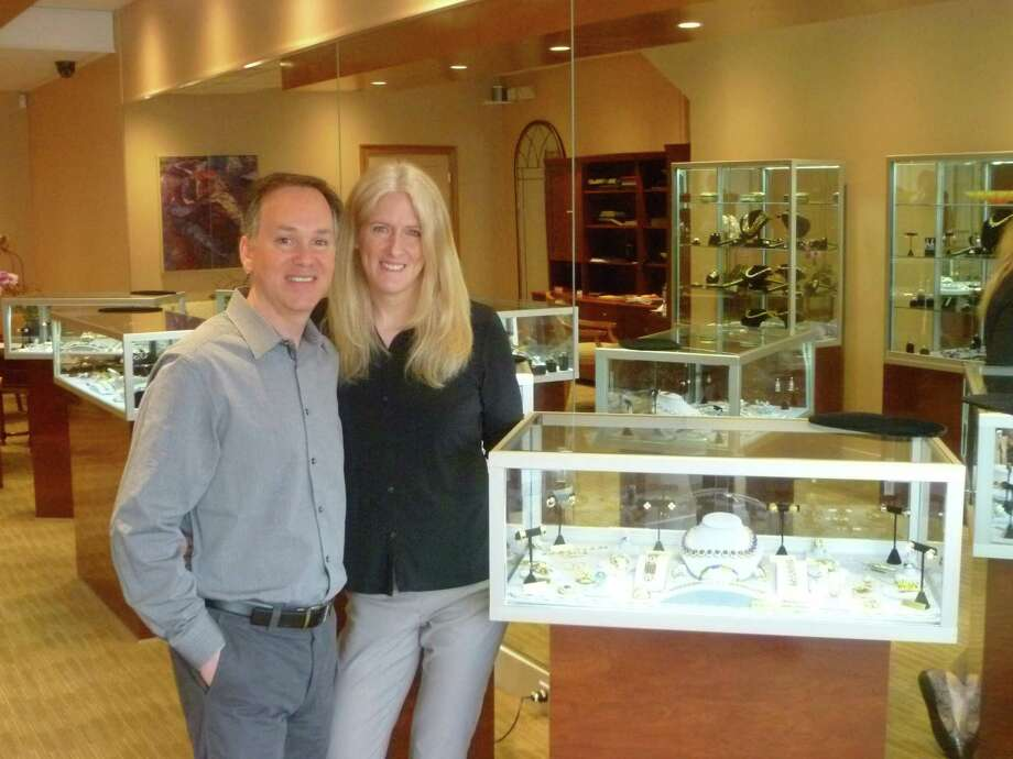 Brad and Vandy Reh have opened a new fine jewelry store at 125 Elm Street in New Canaan. The couple previously ran their business in the exclusive beach enclave of Southampton,N.Y. for 25 years. Photo: Martin Cassidy / New Canaan News