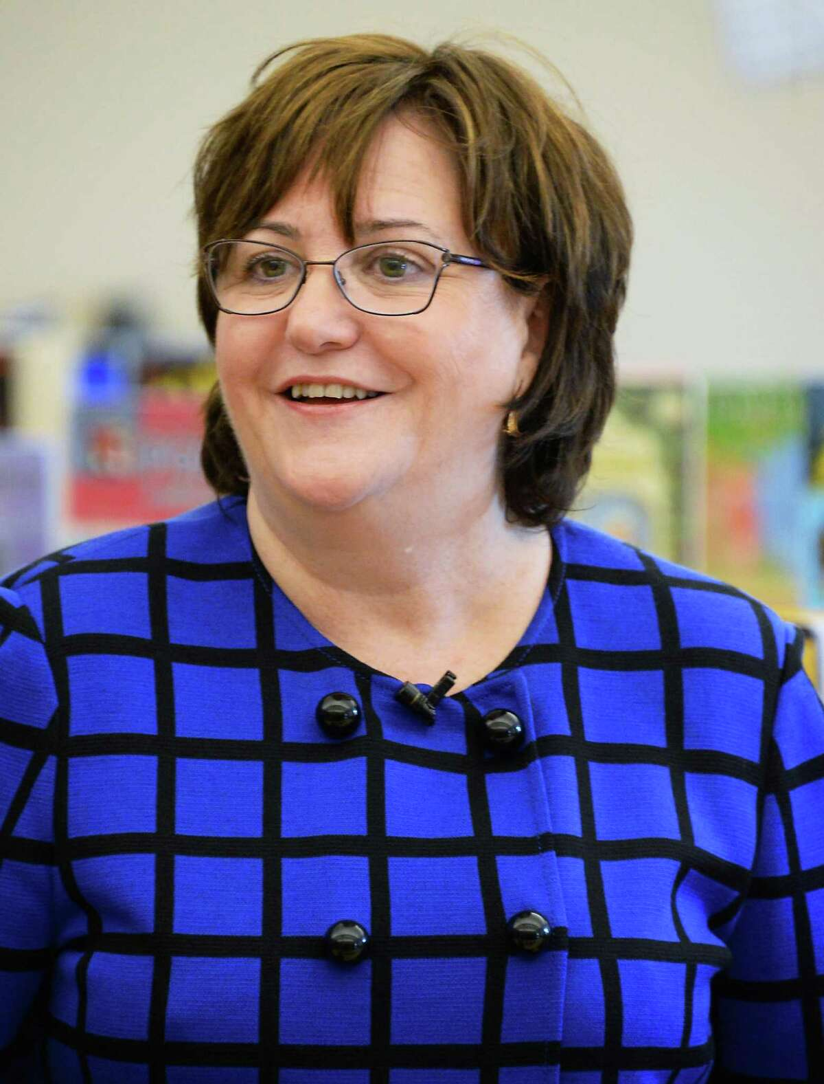 Newly appointed NYS Education Commissioner Maryellen Elia during a visit a Pine Hills Elementary School Wednesday May 27, 2015 in Albany, NY. (John Carl D'Annibale / Times Union archive)