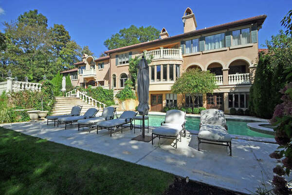 The Westport mansion long owned by Michael Bolton, listed for sale by Higgins Group Real Estate.
