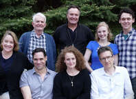 """The nostalgic Word War II love story """"And a Nightingale Sang"""" starts performances June 9 at Westport Country Playhouse. The cast includes (standing, from left) Richard Kline, Sean Cullen, Jenny Leona, John Skelley; seated, Deirdre Madigan, Matthew Greer, Brenda Meaney, and director David Kennedy."""