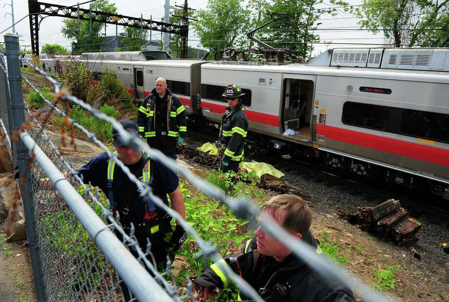 A Metro-North train struck and killed a person on a section of tracks off of Scofield Avenue in Fairfield, Conn. on Wednesday May 27, 2015. Photo: Christian Abraham / Connecticut Post