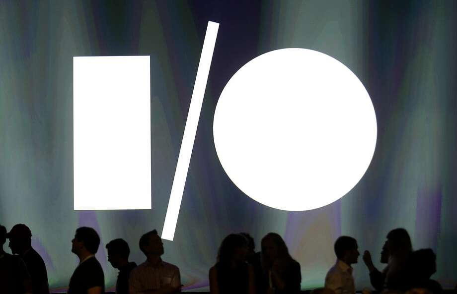 People line up for a session at last year's Google I/O conference in San Francisco. Photo: Jeff Chiu, Associated Press
