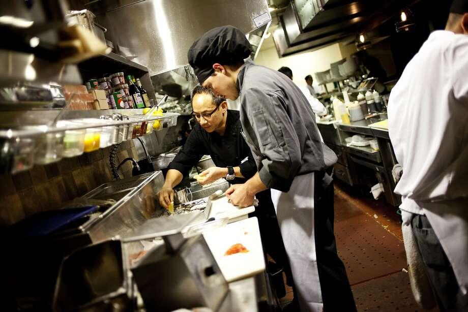 Arnold Eric Wong is teaming up with Carlos Yturria and Phil West to open the Treasury in downtown San Francisco. Wong is a veteran Bay Area chef, seen here at E&O Asian Kitchen in 2012. Photo: Sonja Och, The Chronicle