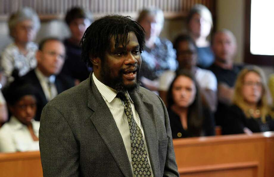 """Herman Robinson claims """"I am not a monster,"""" during  his sentencing Wednesday afternoon, May 27, 2015, at Schenectady County Court in Schenectady, N.Y. (Skip Dickstein/Times Union) Photo: SKIP DICKSTEIN / 00032026A"""