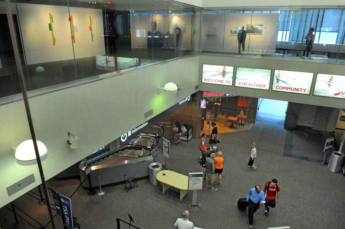 The show Lit currently on display through September 13 at the Albany International Airport gallery on the third floor Tuesday May 26, 2015 in Colonie, N.Y. (Michael P. Farrell/Times Union)