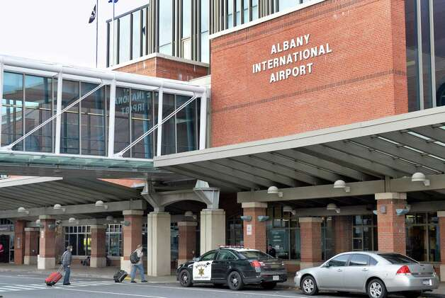 Exterior of the Albany International Airport terminal Tuesday Nov. 4, 2014, in Colonie, NY.  (John Carl D'Annibale / Times Union) ORG XMIT: MER2014110416535941 Photo: John Carl D'Annibale / 00029347A
