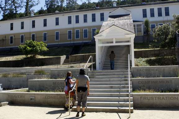 Angel Island, a former immigration station, has many historic buildings such as this detention building. Angel Island has  a variety of hiking and biking trails, historic sites, unsurpassed views, beaches and picnic spots.