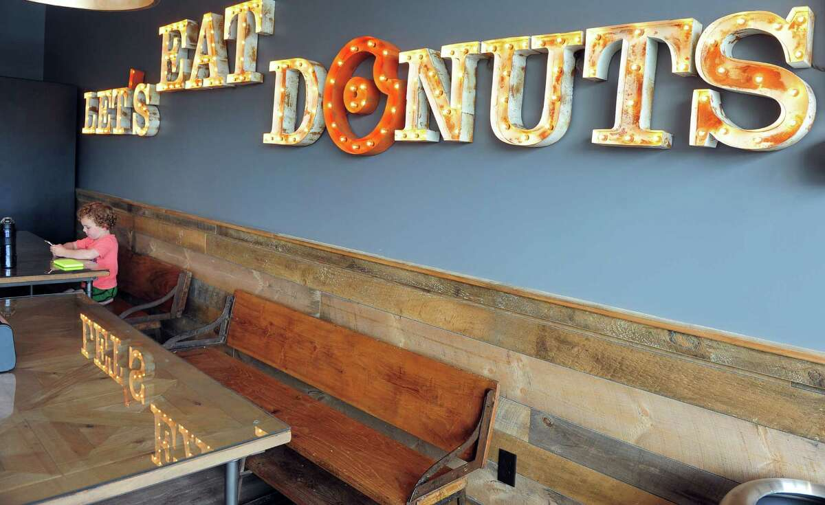 A look at the interior of Donut Crazy's Shelton location on River Road, across from Sports Center of Connecticut.