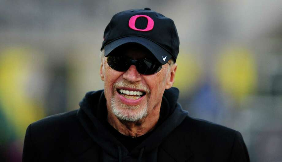 Chairman of Nike Phil Knight looks on as the Oregon Ducks warm up before the game against the Washington State Cougars at Autzen Stadium on Oct. 19, 2013 in Eugene, Oregon. Photo: Steve Dykes /Getty Images / 2013 Getty Images