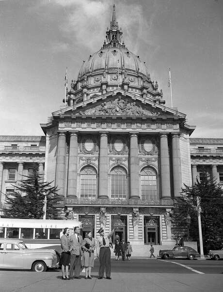 City Hall in 1947, only 32 years after its triumphant completion. Photo: Duke Downey, The Chronicle