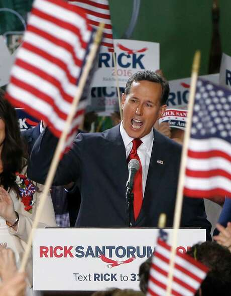 Rick Santorum, runner-up in the race for the GOP nomination in 2012, says his party is obsessed with cutting taxes for the rich Photo: Keith Srakocic /Associated Press / AP