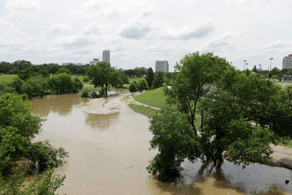 Buffalo Bayou Park is shown near Sabine St. Wednesday, May 27, 2015, in Houston. Park amenities such as benches, trash receptacles, lighting, etc. were designed to withstand severe storm water events.