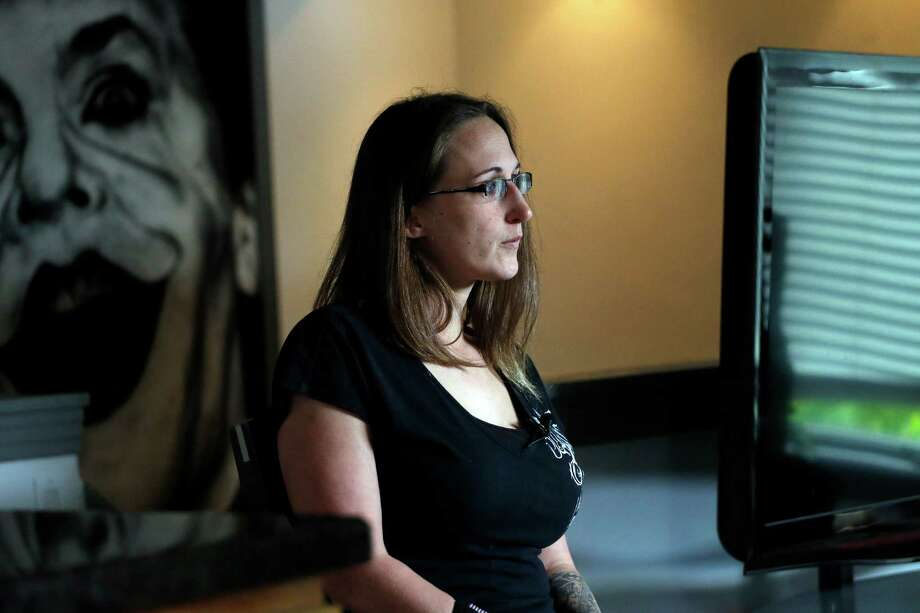 Christina Blache, in her Northglenn, Colo., living room during an interview, said defendant James Holmes wouldn't meet her gaze when she was on the stand. Photo: Brennan Linsley /Associated Press / AP