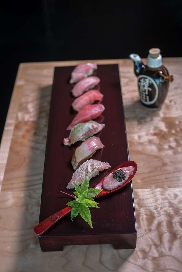 The sustainable Blue Fin Tuna Tasting at Sushi Ran in Sausalito, Calif., is seen on Saturday,  March 28th,  2015. Photo: John Storey, Special To The Chronicle