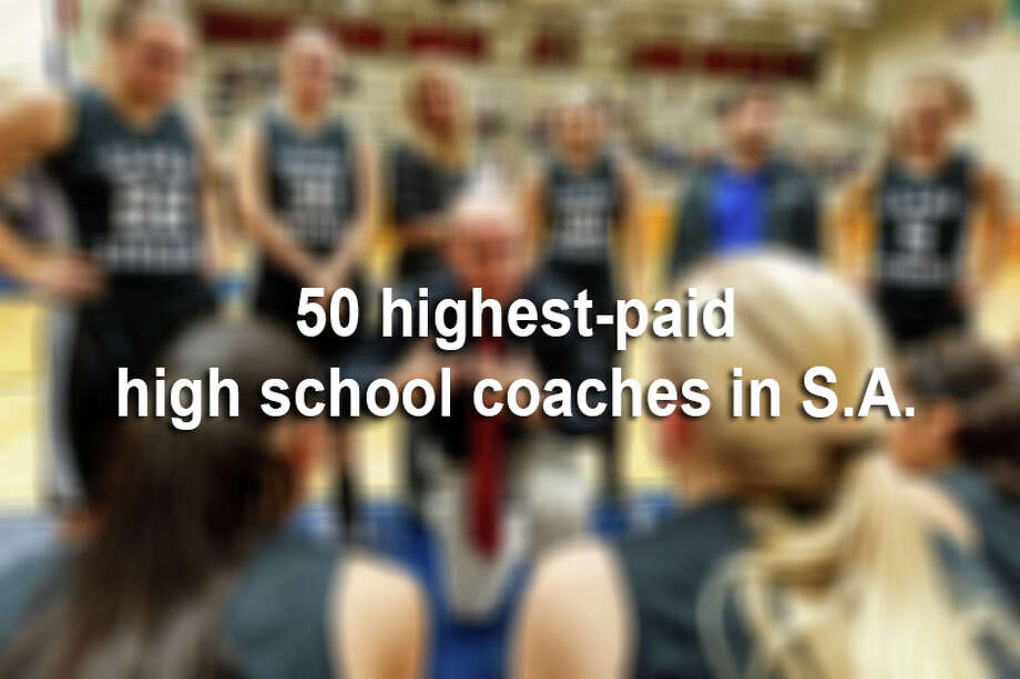 The San Antonio Express-News sifted through salary records for 615 head coaches in the area, and found that head coaches earned more than $39 million during the 2013-2014 school year. Football coaches alone make up more than 50 percent of the top 50 highest-paid coaches, and pull in just under $3.7 million per year, according to records obtained from local school districts.Click through the slideshow to see the 50 highest-paid high school coaches in San Antonio. Photo: MARVIN PFEIFFER, File / Prime Time Newspapers 2012