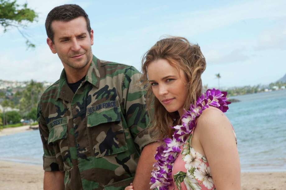 """Bradley Cooper, left, and Rachel McAdams in a scene from Columbia Pictures' """"Aloha."""" Photo: Neal Preston, HONS / Sony Pictures Entertainment"""