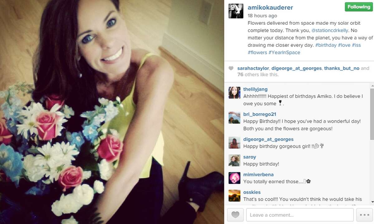 On Instagram, well-wishers leave birthday messages for Amiko Kauderer.