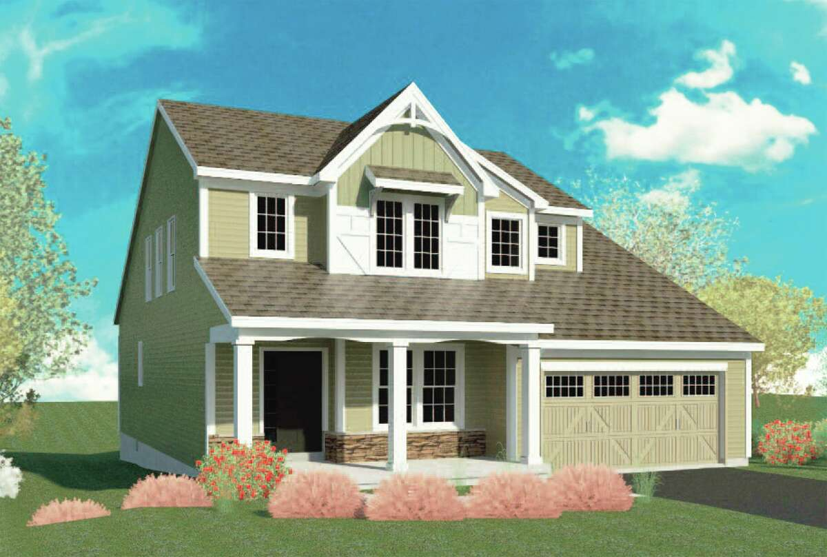 An exterior home option at The Mill at Smith Bridge in Wilton by Belmonte Builders. (Courtesy Belmonte Builders)