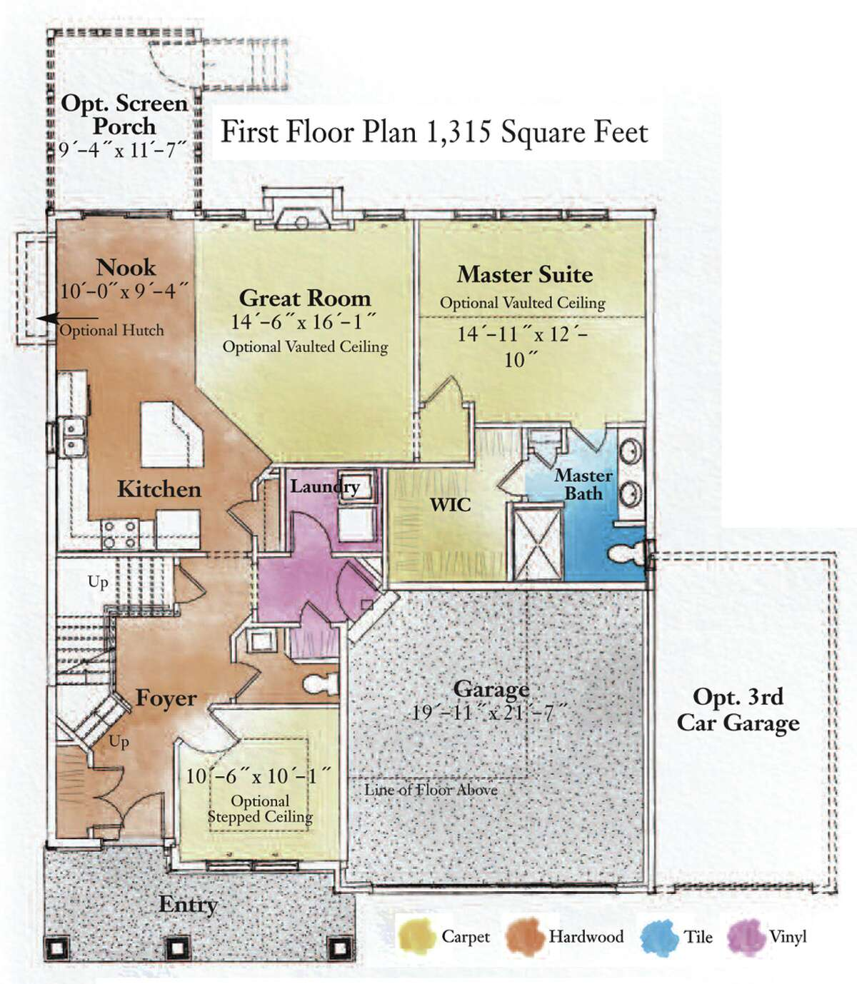 First floor plans for the The Mill at Smith Bridge in Wilton by Belmonte Builders. (Courtesy Belmonte Builders)