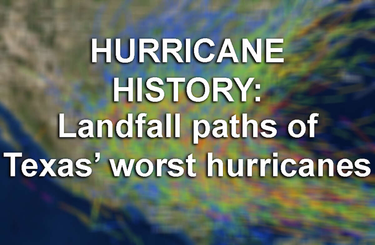 GRAPHICS: Paths of landfalls of Texas' worst hurricanes See the storm paths and landfall points of Texas' biggest hurricanes and tropical storms ...
