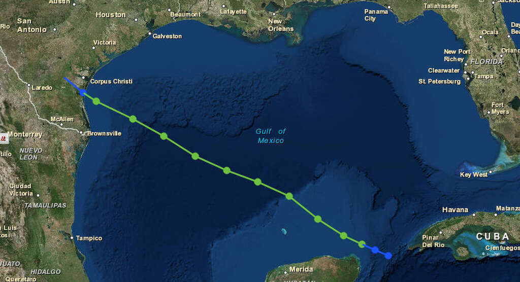 Hurricane carla tracking map