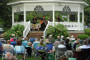 Keltic Kick perform Irish favorites as part of the summer concert series on the Sherman Green in downtown Fairfield, Conn. on Sunday, August 11, 2013.