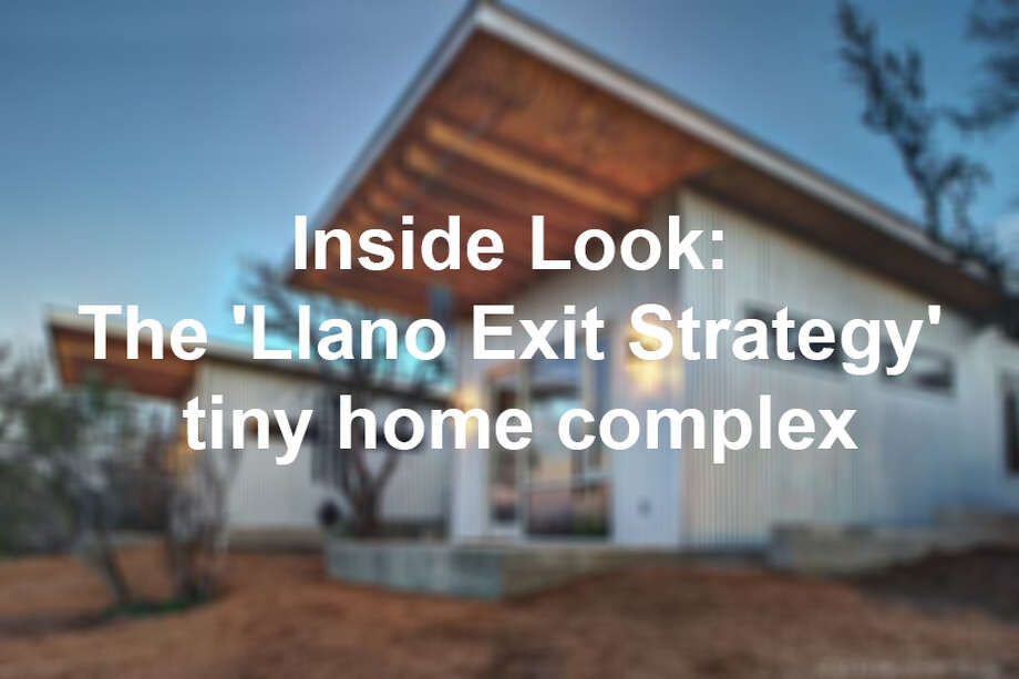 "This tiny home complex outside of Austin, the ""Llano Exit Strategy,"" has six buildings for four families to visit at any time during the year. Photo: San Antonio Express-News"