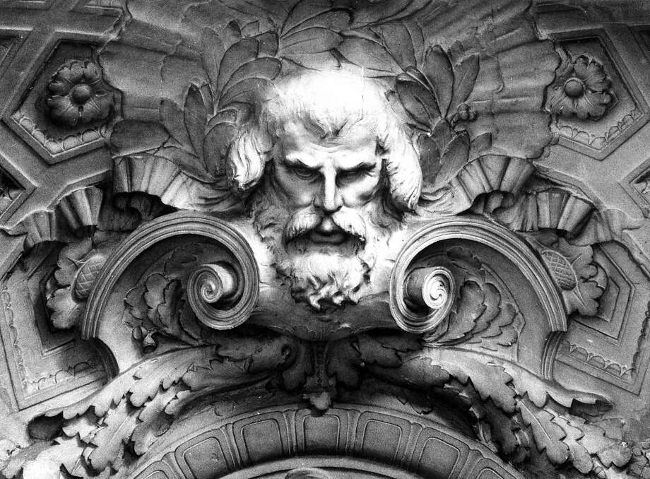 Jan. 6, 1977: The god Neptune - one of many statues and details in the rotunda of San Francisco City Hall. Photo: Dave Randolph, The Chronicle