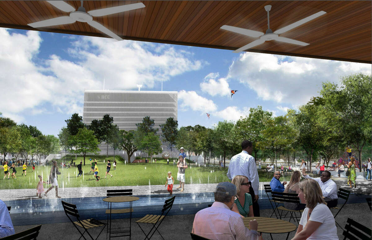 Urban park space is one of the features of the Midtown Park development, shown in this rendering.